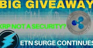 XRP NOT a Security!? ETN Surge Continues & New GIVEAWAY! - Today's Crypto News