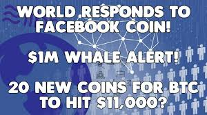 The World RESPONDS to Facebook's Libra Coin // WHALE ALERTS on YEN while BITCOIN HITS $11,000!!!