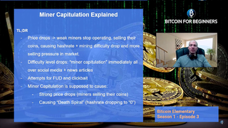 "Is ""Miner Capitulation"" Complete BS? (What is Miner Capitulation - Bitcoin Elementary S1:E3)"
