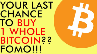 YOU MIGHT NEVER SEE BITCOIN AT THIS PRICE AGAIN!!! LAST CHANCE TO BUY 1 BITCOIN??? (My Prediction)