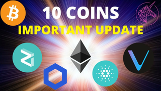 NEW IMPORTANT ANALYSIS ON 10 MOST POPULAR COINS | BTC, VET, ZIL, LINK + MORE!
